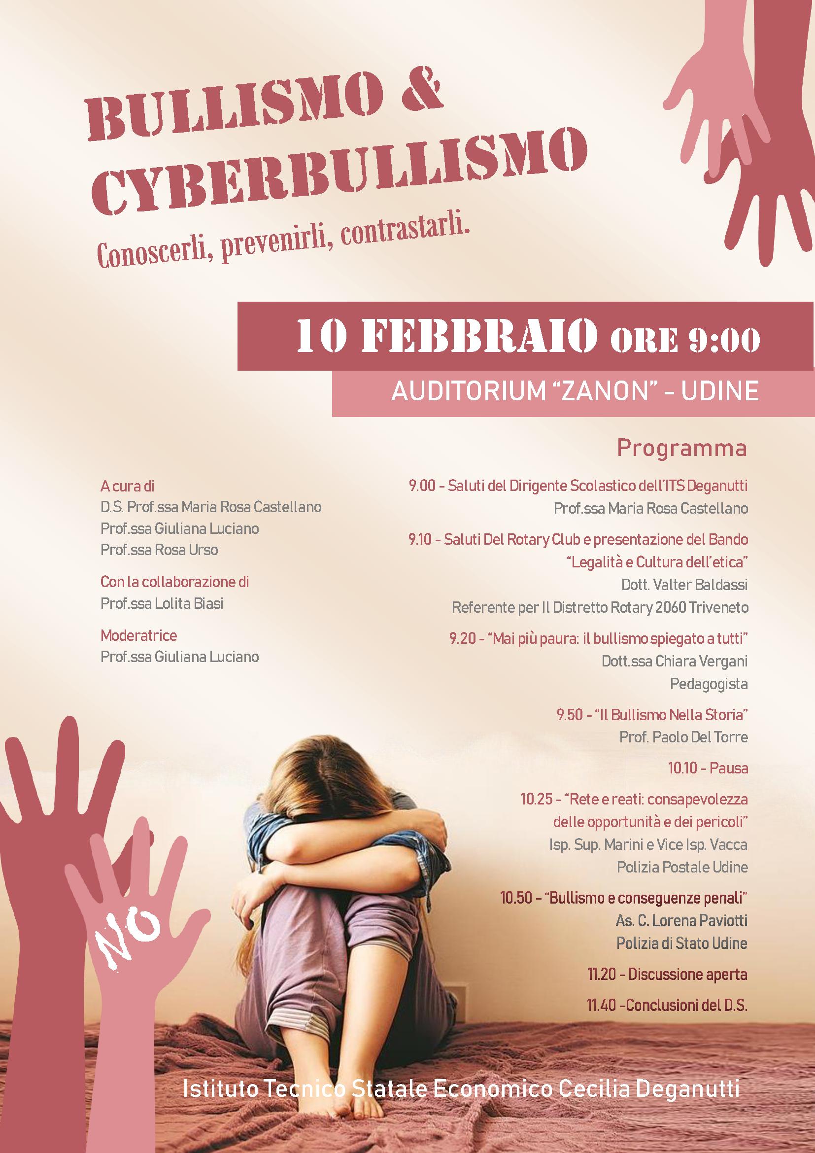 Convegno Bullismo e Cyberbullismo: conoscerli prevenirli, contrastarli