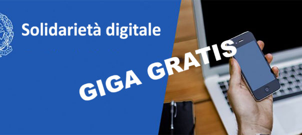Solidarietà digitale – Giga gratis e PC in comodato d'uso