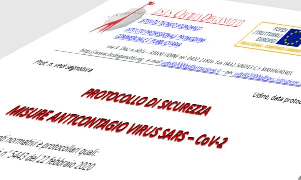 Protocollo di sicurezza misure anticontagio SARS-CoV-2