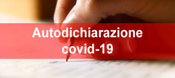 Autodichiarazione covid-19
