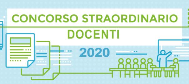 CONCORSO STRAORDINARIO DOCENTI 2020