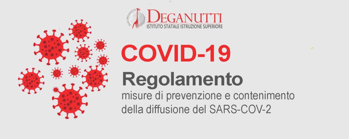 Regolamento recante misure di prevenzione e contenimento della diffusione del SARS-COV-2