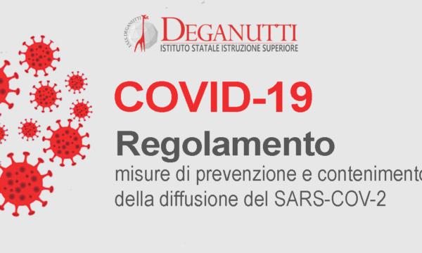 Regolamento per prevenzione e contenimento della diffusione del SARS-CoV-2 a.s. 2021/2022